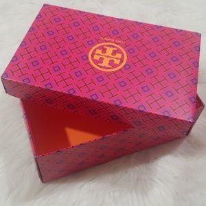 Tory Burch shoe box.